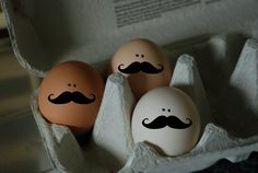 draw mustaches on your eggs easy peasy