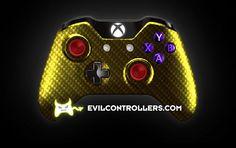 XboxOneController-YellowBlackCarbonFiber   Flickr - Photo Sharing!