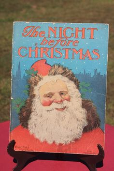 Antique The Night Before Christmas Donohue Company Children's Book 1920's