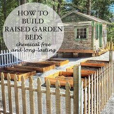 How to build raised garden beds out of cedar and how to select the appropriate soil via Lil Blue Boo.