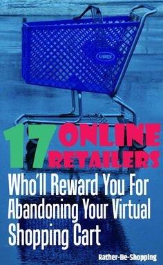 Abandon Shopping Cart: 17 Online Retailers Who'll Bait You Back with a Coupon Best Money Saving Tips, Money Tips, Saving Money, Shutterfly Coupons, Preparing For Retirement, Household Expenses, Savings Planner, Saving Ideas, Ways To Save