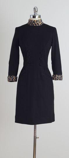 Midnight Prowl . vintage 1950s dress . by millstreetvintage