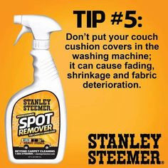 Check out this great tip to keep your home clean and healthy between Stanley Steemer cleanings. Some information on upholstery!