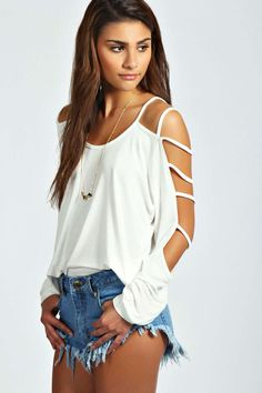 Sophie Strappy Sleeve Loose Fit Top alternative image