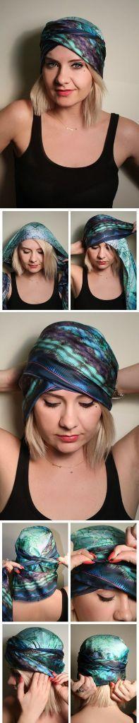 10 formas de usar lenço na cabeça com tutorial | http://nathaliakalil.com.br/10-formas-de-usar-lenco-na-cabeca/