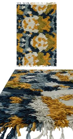 Add an elegant splash of color to your contemporary living space with the gorgeous Sea Blossoms Rug. Beautifully hand-woven from wool and viscose, this stunning rug boasts a shaggy floral-like design i...  Find the Sea Blossoms Rug, as seen in the A Mid-Century Time Capsule in Oakland Collection at http://dotandbo.com/collections/a-mid-century-time-capsule-in-oakland?utm_source=pinterest&utm_medium=organic&db_sku=120681