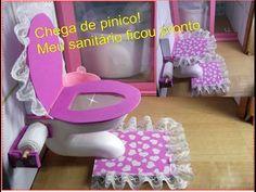 Como fazer um vaso sanitário para bonecas Barbie, Monster high ,etc.. - YouTube