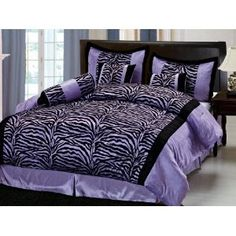 Redoing my room purple and maybe grey. Love this bedding to go with it <3