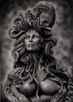 Collection of 25 Medusa Fantasy Tattoo Design Medusa Gorgon, Medusa Kunst, Medusa Tattoo Design, Tattoo Designs, Medusa Drawing, Medusa Art, Drawing Art, Dark Fantasy, Fantasy Art