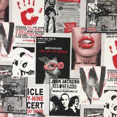 UNPLUGGED News Theatre Cotton Fabric Retro by TheFabricShopUK, £13.99