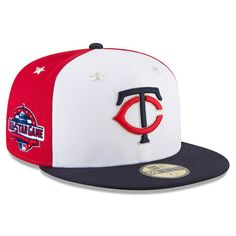 8b8180c22ed Men s Minnesota Twins New Era White Navy 2018 MLB All-Star Game On-Field  59FIFTY Fitted Hat