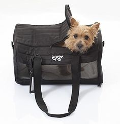 2PET Cabin Travel Under Seat Kennel Approved by Major American Airlines  Pet Carrier for Small Dogs Cats  Pets  SoftSided Pet Carrier Crate w Thorough Ventilation Strong Built  Ebony Black ** Click image for more details.