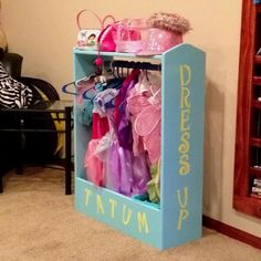 Tatum's new dress up station!  Thanks Nate!