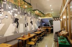 Warung Bakso Cafe Idea, Shabby, Interior Design, Dog, Modern, Life, Furniture, Sandwich Shops, Design Interiors