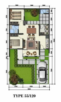 Amazing Beautiful House Plans With All Dimensions - Engineering Discoveries Beautiful House Plans, Dream House Plans, Small House Plans, House Floor Plans, House Layout Plans, House Layouts, Small House Design, Modern House Design, 20x40 House Plans