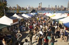 Smorgasburg | Beer & Food | Saturdays at East River State Park—Kent Ave. and N. 7 St.—on the Williamsburg waterfront; and Sundays at Brooklyn Bridge Park's Pier 5. - MUST GO
