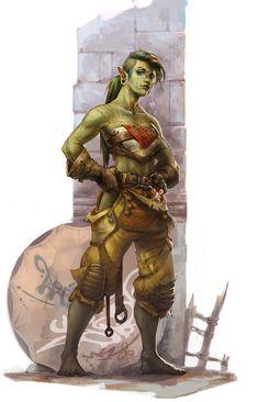 ArtStation - Ork gal, Joanna Wolska #orc