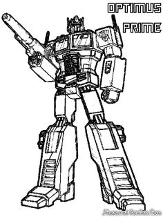 Coloring Pages Of Optimus Prime