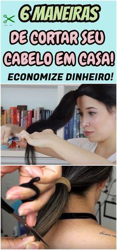 Você é daquelas que não gosta de gastar com salão? Aprenda diferentes cortes de cabelo para fazer sozinha. #corte #cabelo #casa #tesoura #truques #facil #fios #beleza #salao #mulher #economia #receita #receitinha
