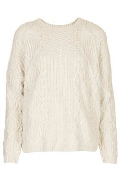 gotta pop into Top Shop and pick up one of these Knitted Angora Cable Jumpers to pair with a pencil skirt this winter