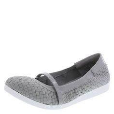Be comfy and carefree in the Angelica Flat! It features a woven upper with stretchy topline and strap, faux patent heel, jersey lining, and flexible outsole. The soft footbed boasts a two layer insole. Memory foam, like pillows provided in five-star hotels, absorbs shock, shapes and holds perfectly to cradle the foot for lasting comfort. Latex foam has a premier bouncing nature which provides cushion and a feeling of protection with every step. Manmade materials.