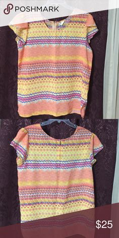 Very cute blouse with beautiful colors Very cute blouse with beautiful colors Japna Tops Blouses