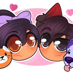 Aphmau, Aaron, Eli, and Celeste Aphmau Wallpaper, Aphmau My Street, Aphmau Youtube, Aarmau Fanart, Aphmau Characters, Aphmau And Aaron, Jaiden Animations, Cute Potato, Kawaii Chan