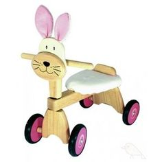 Houten loopfiets konijn van I'M Toy