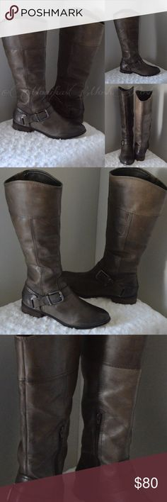 Selling this Gray Brown Arturo Chiang Distressed Riding Boots on Poshmark! My username is: monikasmoshposh. #shopmycloset #poshmark #fashion #shopping #style #forsale #Arturo Chiang #Shoes