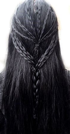 50 Inspiration for Long Hair Ideas My Hairstyle, Braided Hairstyles, Cool Hairstyles, Medieval Hairstyles, Hair Inspo, Hair Inspiration, Hair Reference, Hair Dos, Hair Hacks