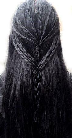 50 Inspiration for Long Hair Ideas My Hairstyle, Braided Hairstyles, Cool Hairstyles, Medieval Hairstyles, Hair Inspo, Hair Inspiration, Hair Reference, Hair Dos, Dark Hair