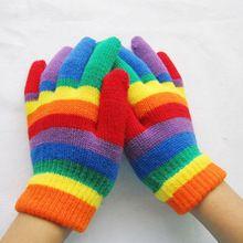 Crianças Infantil Luvas Metade do Dedo Luvas de Inverno Luvas Quentes Unisex Íris Cor Stretchy 3 Estilos Crianças Luvas Luva Por Atacado(China (Mainland))