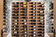 Owning a wine cellar is not just about having a room with some racks to put your bottles on, in addition to being a functional space it has become something that adds beauty and value to your home or establishment. Get started today! Glass Wine Cellar, Home Wine Cellars, Wine Cellar Design, Wine Glass, Wood Wine Racks, Center Stage, Bottles, Photo Wall, Construction