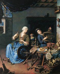 Willem van Mieris - The Spinner - WGA15651.jpg