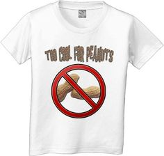 To cool for PEANUTS ALLERGY kids tshirt any by CustomTeesForTots, $14.00   Caleb
