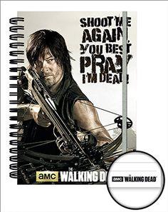 The Walking Dead - Crossbow - Daryl Dixon - Offizielles Premium Lizenz-Notizbuch im handlichen A5 Format - Größe 15x21 cm