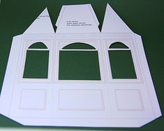 Free Printable Bay Window or Window Template in Dolls House Miniature Scales: Print And Cut Out the Main Template For a Dolls House Shop Bay Window