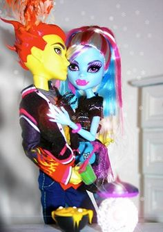 Holt Hyde and Abbey from the Monster High doll series.
