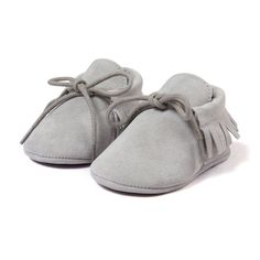 Baby Boy Girl Baby Moccasins Soft Moccs Shoes Bebe Fringe Soft Soled Non-slip Footwear Crib Shoes New PU Suede Leather Newborn