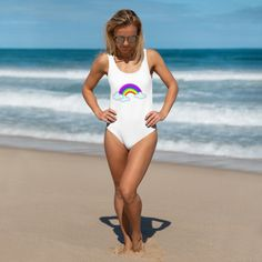 Smart Buys! Rainbow - Swimsuit starting from €29.99 See more. 🤓 #style #ontrend #trendy #fashion #tshirts #tshirt #tshirtdesign #apparel #clothing #tee Sexy Bikini, Bikini Girls, Rainbow Swimsuit, Rainbow Candy, Swimsuits For All, Camo Print, Printed Sweatshirts, One Piece Swimsuit, Candy Lips