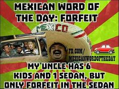 . Mexican Word Of Day, Mexican Words, Word Of The Day, Funny Signs, Funny Jokes, Hilarious, Funny Insults, Mexican Memes, Funny Cards