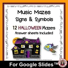 Suitable for Middle School General Music Students and works well in the classroom, homeschool, and distance learning. The maze puzzles reinforce students' understanding and knowledge of MUSIC Signs and Symbols. This file contains ♫ TWELVE HALLOWEEN themed music mazes to review the music signs and symbols ♫ TWELVE answer sheets ♫ ♫ #mtr #musicteacher #musiced #musiceducation Music Teacher Resources