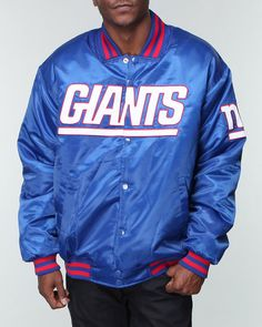 Shops Indiaviolet - Buy From The Best: Nba, Mlb, Nfl Gear Men New York Giants Custom Satin Jacket (Drjays.com), $99.99