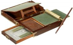 Portable Copying machine invented by James Watt in 1795. Watt published a pamphlet entitled 'Directions for using the Patent Portable Copying Machine Invented and Made by James Watt & Co.' Click on image to read more