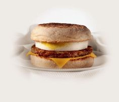 Sausage and egg mcmuffin, the best breakfast with a hash brown.