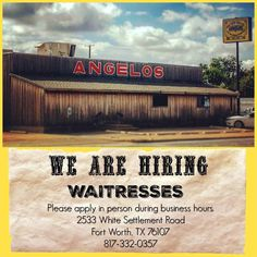 We are hiring! #waitress #barbecue #fortworth #jobs #hiring #apply