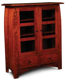 Aspen Cabinet With Glass Doors   SimplyAmish