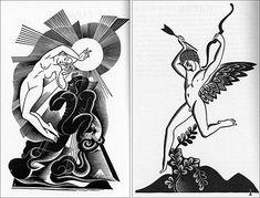 'Myths of the World' (1930) by Russian-born, American illustrator Boris Artzybasheff (1899-1965). via John Coulthart