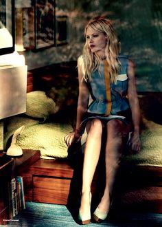 Model Hannah Holman, photographer Emma Tempest for Elle, UK, March 2013