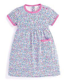 c8f59286da30a JoJo Maman Bébé Summer Ditsy Floral Pocket-Accent Dress - Infant, Toddler &  Girls